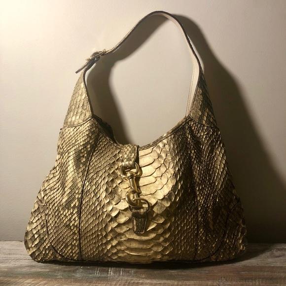 Gucci Handbags - Gucci Jackie O Bouvier Python Hobo Bag